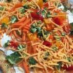 Cold keto veggie pizza. @keto @lowcarb @veggiepizza
