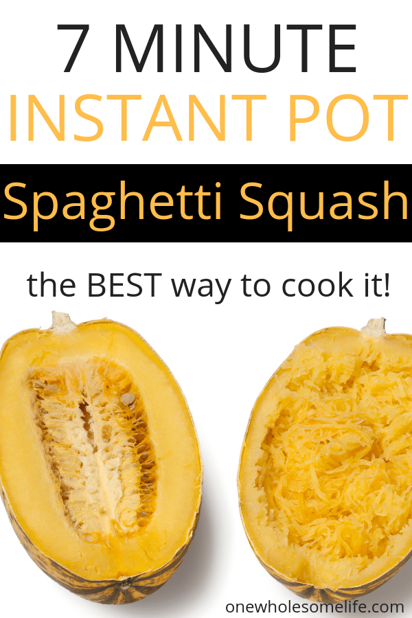 How to cook spaghetti squash in the instant pot. The best way to cook spaghetti squash. #lowcarb @spaghettisquash