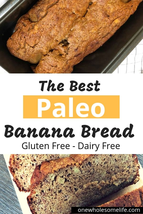 The best Paleo Banana Bread recipe made with both coconut and almond flour that is super easy to make!