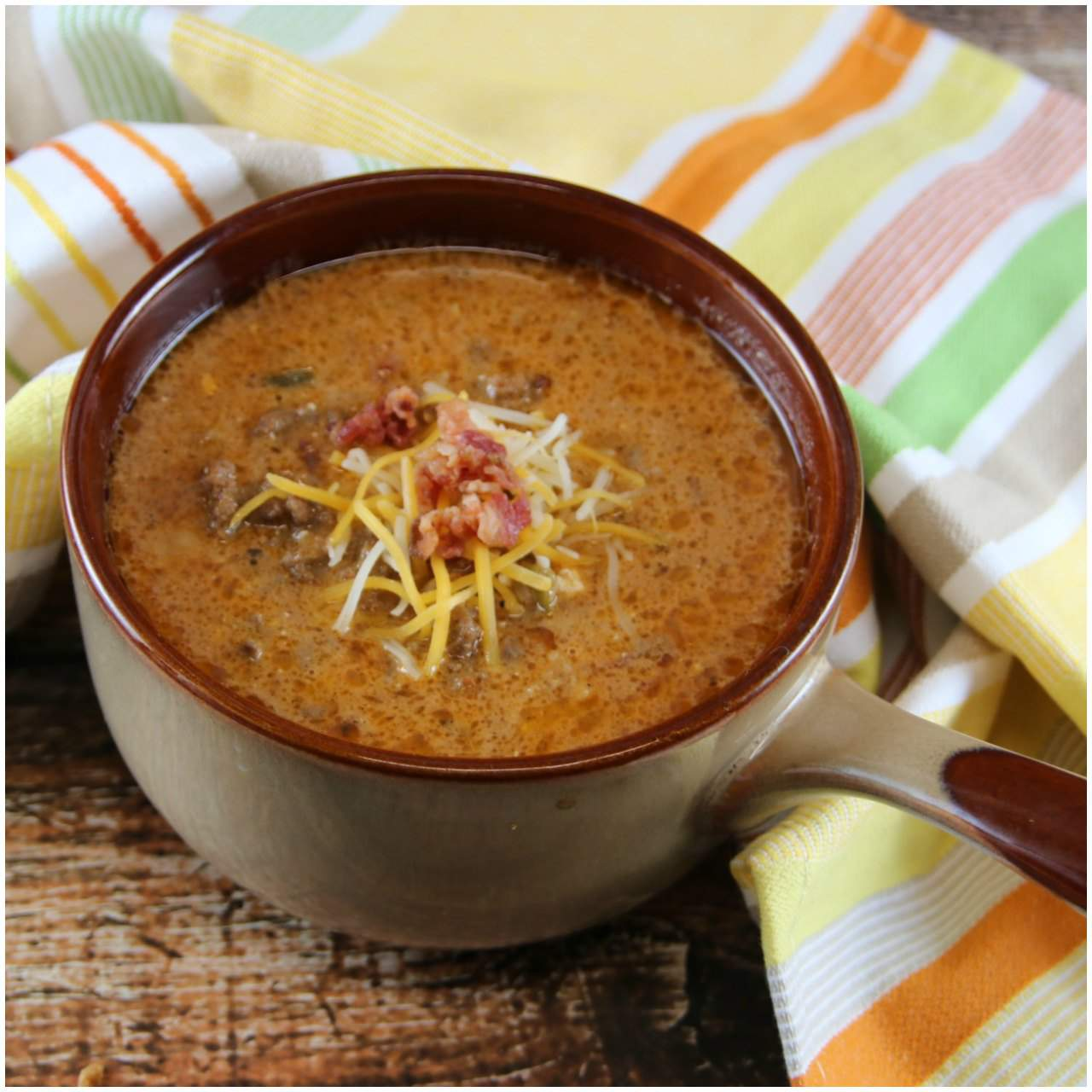 Keto Bacon Cheeseburger Soup