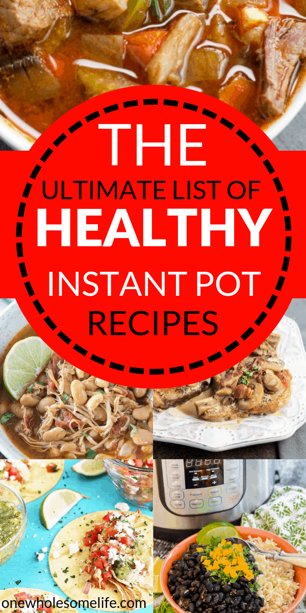 Healthy instant pot recipes that are easy! Lots of healthy instant pot recipes including clean eating, keto, low carb, paleo, whole 30, chicken, pork, beef, and more!