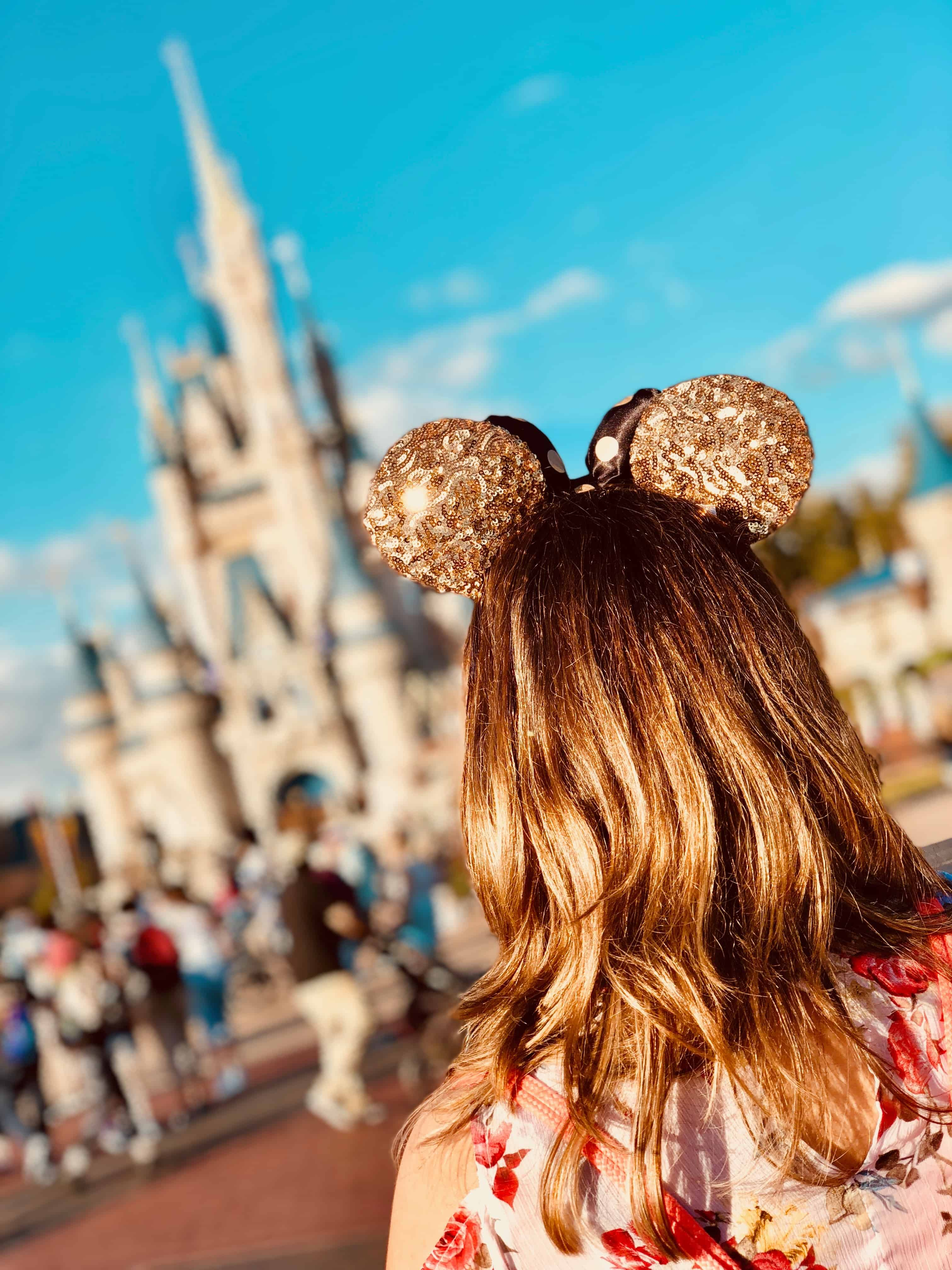 mickey ears in front of cinderella castle