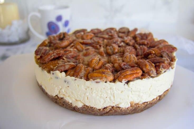No Bake Keto Pecan Cheesecake