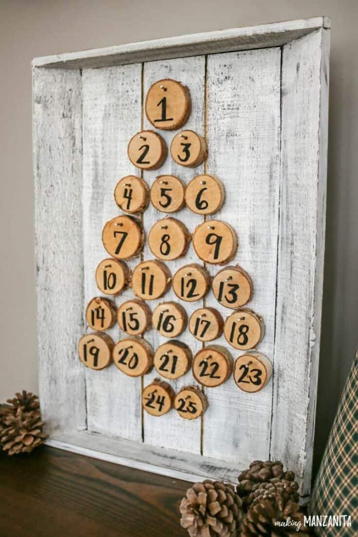 Rustic Christmas Advent Calendar