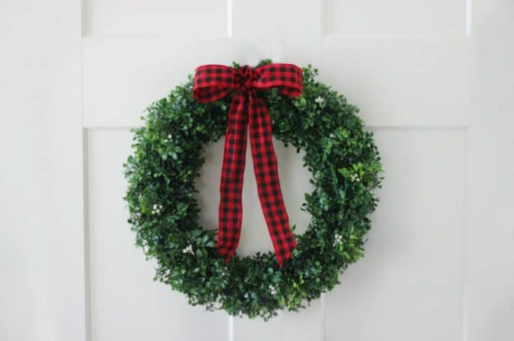 Easiest Boxwood Wreath Tutorial
