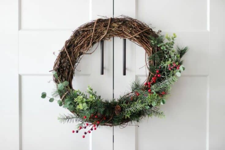 Evergreen and Berry Winter Wreath