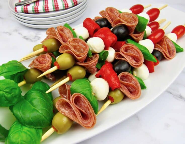 Italian Antipasti Skewers - Keto/Low Carb