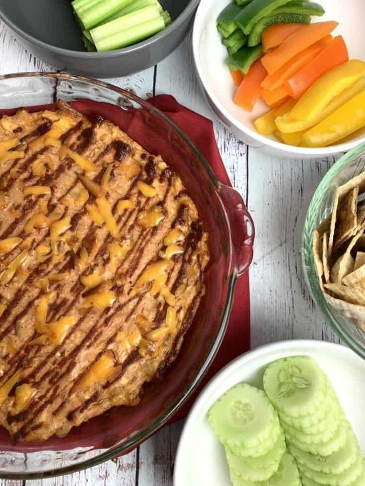 Easy BBQ Chicken Dip (THM-S, Low Carb, Sugar Free)