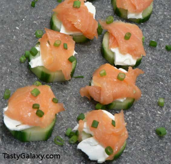 Smoked Salmon Cucumber Appetizer