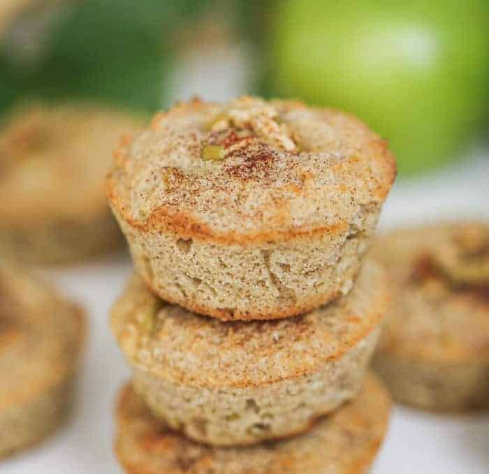 Cinnamon Apple Muffins - GF, Low-Carb, Sugar-Free