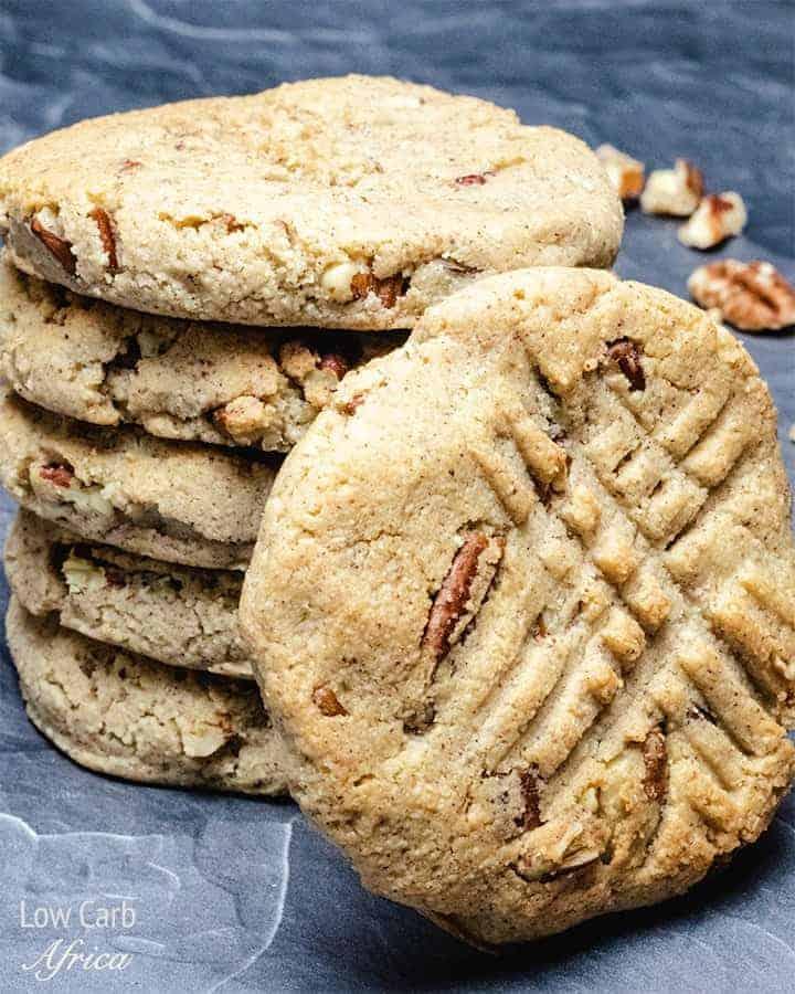 Low Carb Keto Cinnamon Pecan Cookies