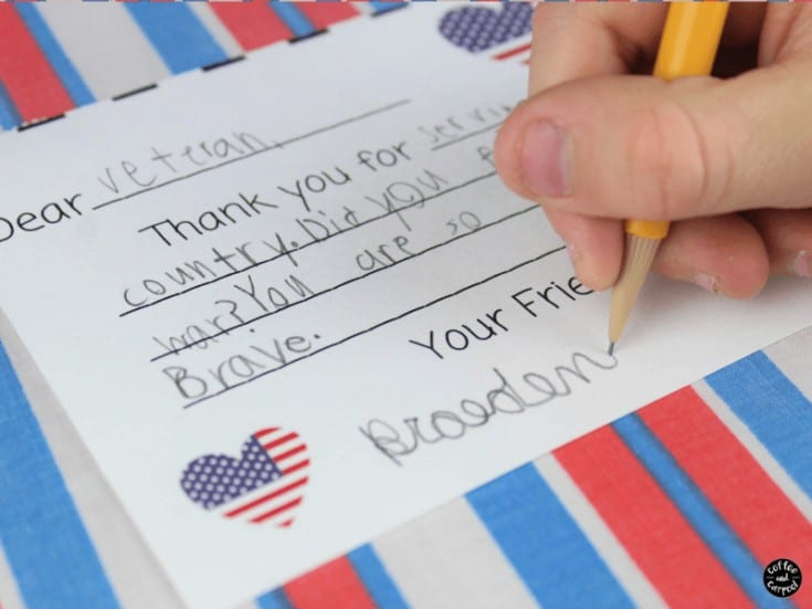 How to Spread Kindness with Letters to Soldiers from Kids