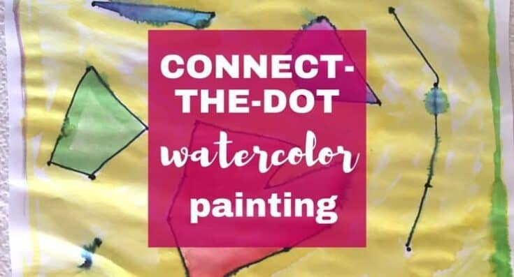 Watercolor for Kids: Connect-the-Dots Watercolor Painting