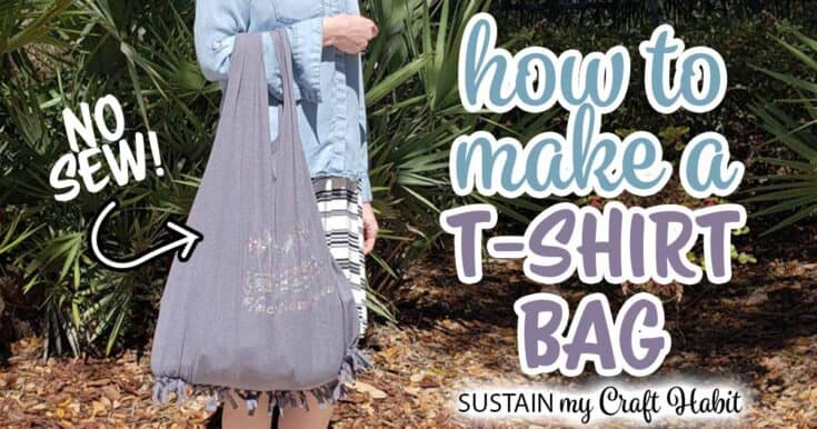 Easy, No-Sew TShirt Bag Tutorial!