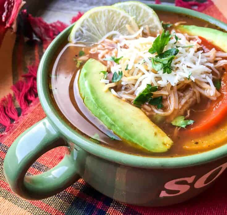 Chicken Fajita Soup Recipe in the Instant Pot {Freezer Meal}
