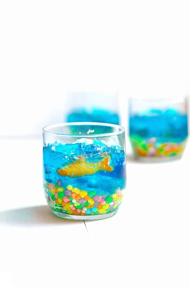 Mini Jello Fish Bowls