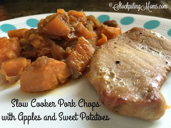 Slow Cooker Pork Chops with Apples and Sweet Potatoes