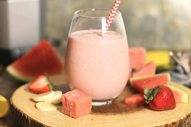 Creamy Strawberry Watermelon Smoothie
