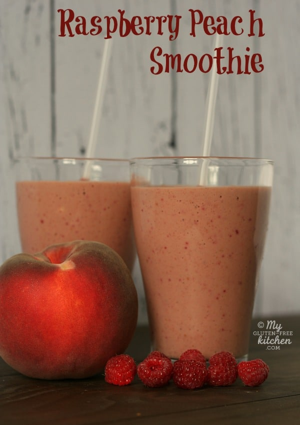 Raspberry Peach Smoothie {Gluten-free}