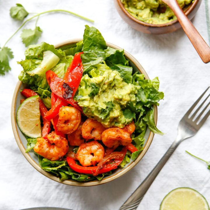 Healthy Shrimp Fajita Bowls