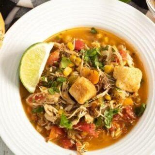 Instant Pot Chilli Lime Chicken Soup