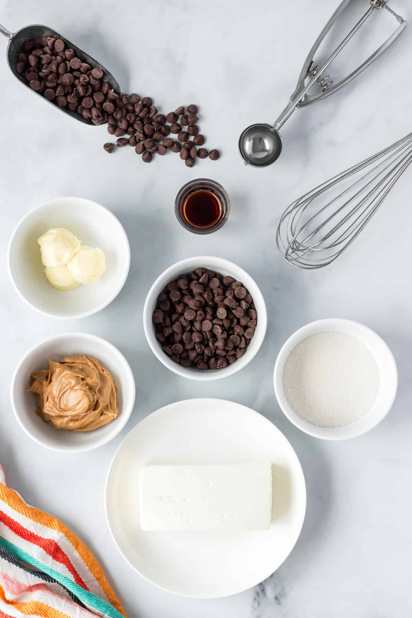 ingredients for cookie dough fat bombs
