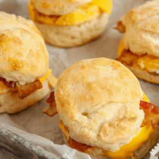 Healthy Bacon, Egg, and Cheese Biscuits