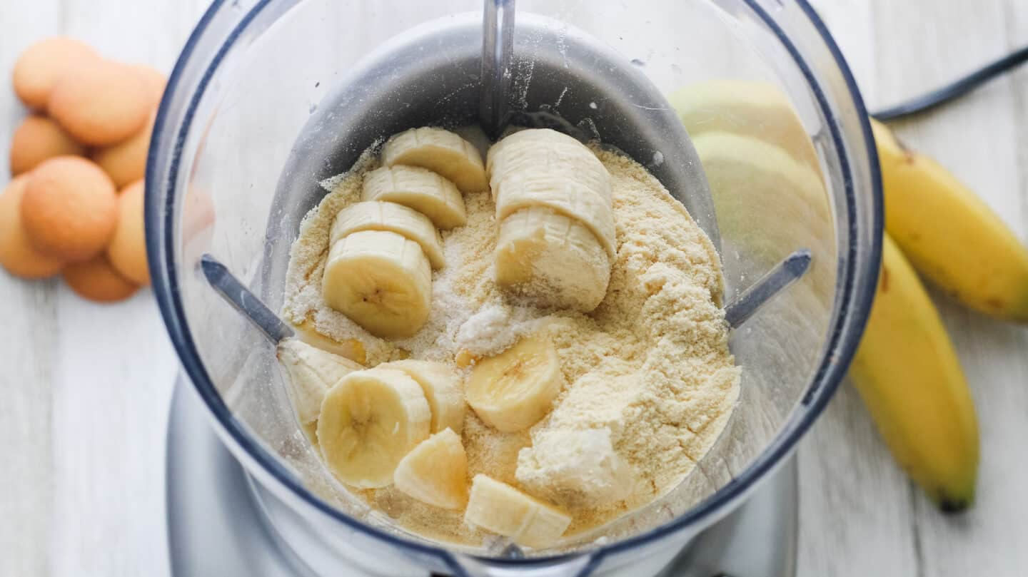 If you love banana pudding or banana cream pie, starting your day with this simple Banana Protein Shake is a must. Not only does it give a great boost to your morning but it feels like you're actually having dessert for breakfast! You can easily drink this for breakfast, lunch, dinner, or dessert!